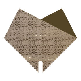 Sleeve Doublé Glitters & Stars 30x30cm gold