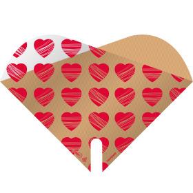 Sleeve Doublé Heartbeat 35x35cm red