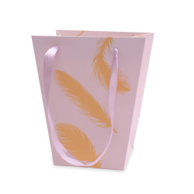 Carrybag Golden Feathers 7/5x4/4x8 in pink