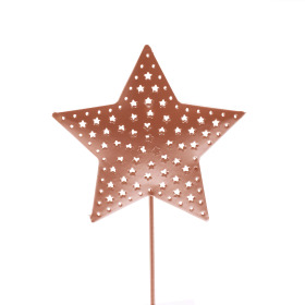 Star Rustic Ø 6.5cm on 10cm stick copper