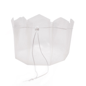 Carrybag 11x10x18cm with cord transparent