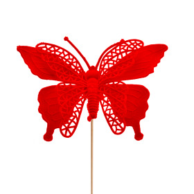 Butterfly Max 16cm on 50cm stick red
