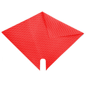 Sleeve Impress Wave 27x27cm red
