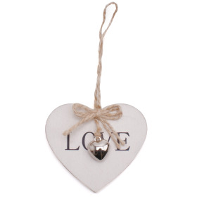 Heart Little Love 3x2.75in on 20in stick white