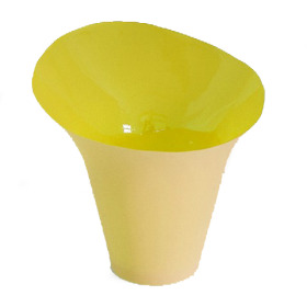 Potcover Oval 10.5cm yellow