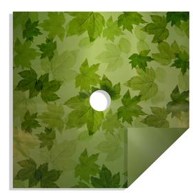 Fall Leaves 24x24in green H3