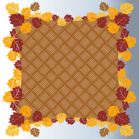 Fall Basket 24x24 in Sheet brown