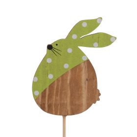 Polka Dot Bunny 9cm on 50cm stick green