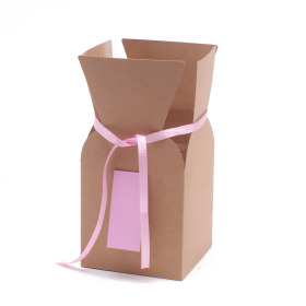 Bouquetbox greenpack 5/5x10 in pink