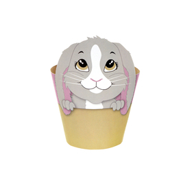 """Potcover Bunny 4"""" pink"""