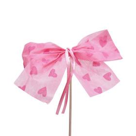 Bow Send Love 10cm op 50cm stok pink
