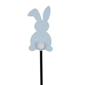 Baby Bunny 3.5 in on 20 in stick blue