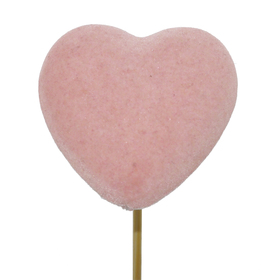 Heart Eros 5cm on 50cm stick pink