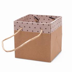 Carton bag Sophie 10x10x10cm white