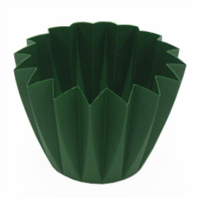 CUPCAKE CONTAINER 11 CM MOSS GREEN
