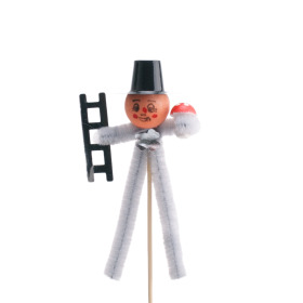 Chimney sweeper 11cm on 50cm stick silver