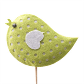 Birdy Felt 2.75 in on 20 in stick green