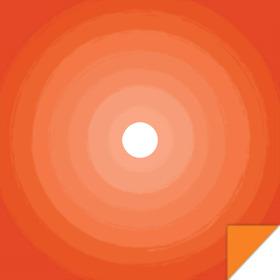 Ombre 24x24 in orange H3