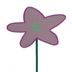 Flower Party 8x9cm on 50cm stick lilac