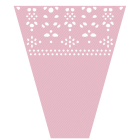 Sleeve Punched 40x30x14cm pink