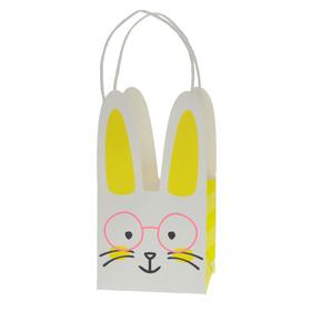 Draagtas Bunny Boost 12/12x21,5cm FSC Mix geel/wit