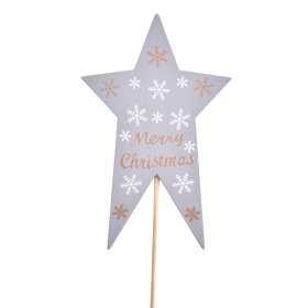 Star Nordic 7x11cm on 10cm stick gray
