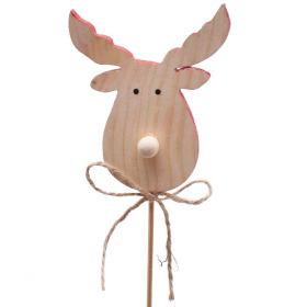 Reindeer Donner 7cm on 50cm stick red