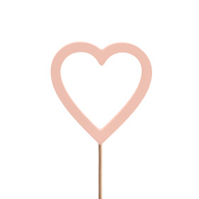 Heart Nayeli 7cm on 50cm stick pink