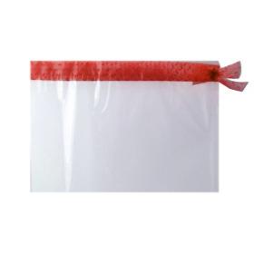 Sleeve Foil Roset De Luxe 40x50cm transp./red