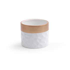 Ceramic Pot Dimples ES10.5 white/gold