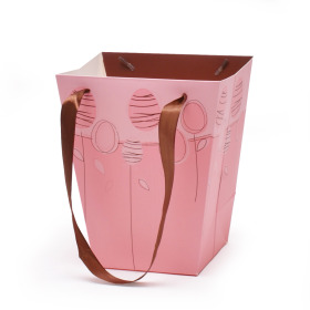 Easter bag Chocolate Egg 17/13x11/11x20cm pink