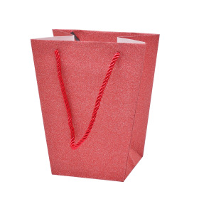 Carrybag Glitter&Glamour 17/13x11/11x20cm red