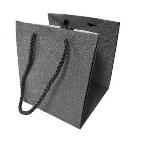 "Carrybag Glitter & Glamour 11/11x9/9x10 black 4"""