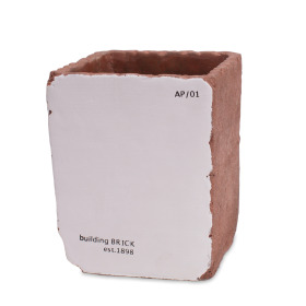 Ceramic Brick 12x12 H15cm white