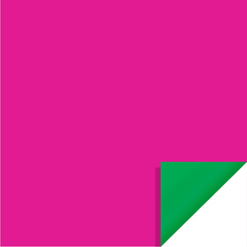Bi-Color Sheet 24x24in hot pink / green