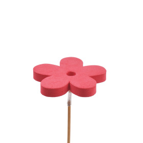 Flower Eva 7cm on 50cm stick red