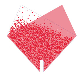 Sleeve Doublé Million Hearts 35x35cm red/pink