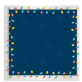 Christmas Bulb 24x24in blue