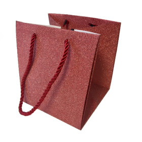 """Carrybag Glitter & Glamour 15/15x13/13x15 red 6"""""""