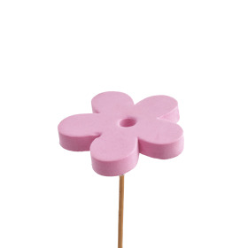 Flower Eva 7cm on 50cm stick pink