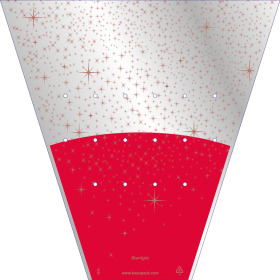 Plant sleeve Starlight 43x38x14cm red
