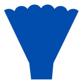 Sleeve Maxima 54x35x10cm blue