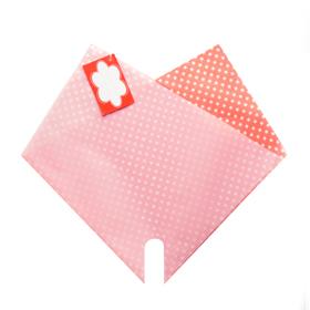 Hoes Doublé Dots Mini 27x27cm rood
