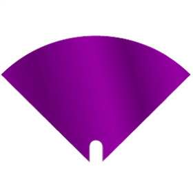 Sleeve Moon Iris 16x16cm purple