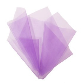 Organza 20x28in lavender with 3in hole