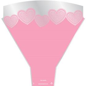 Sleeve Love Hearts 54x35x10cm pink