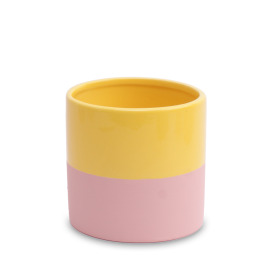 Ceramic pot Soft Touch 5in Sunny Yellow