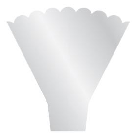 Hoes Y-Shape Scallop 54x44x12cm transparant
