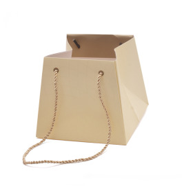 Carton bag Rising Sun 13/13x17/17x15cm cream