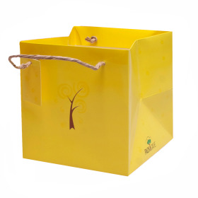 Carrybag Pack & Give® 16x16cm yellow